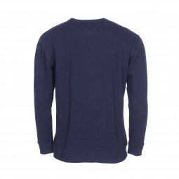 Sweat col rond Tommy Jeans Essential Graphic en coton bleu marine