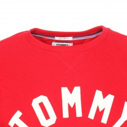 Sweat col rond Tommy Jeans Essential Graphic en coton rouge