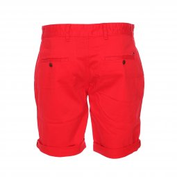 Short Tommy Jeans Basic en coton stretch rouge
