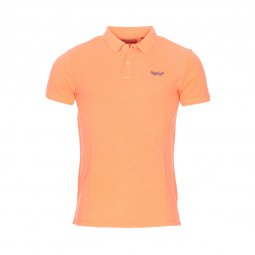 Polo Petrol Industries en piqué de coton orange