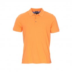 Polo Pierre Cardin en piqué de coton orange