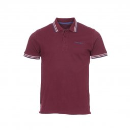 Polo Teddy Smith Pasian en piqué de coton bordeaux