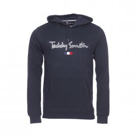 Sweat à capuche Teddy Smith Seven en coton bleu marine