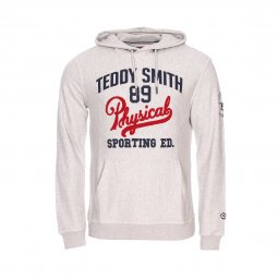 Sweat à capuche Teddy Smith Swego en coton gris chiné