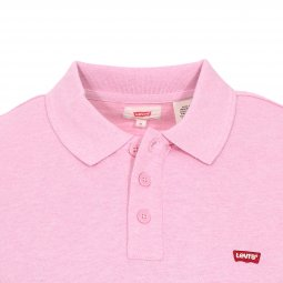 Polo Levi's Housemark Pink Nectar Heather en coton rose chiné