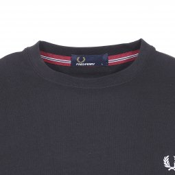 Tee-shirt col rond Fred Perry en coton stretch noir
