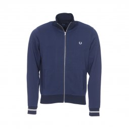 Sweat zippé Fred Perry Funnel en coton bleu marine