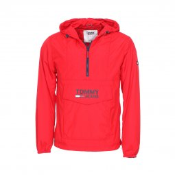 Veste coupe-vent Tommy Jeans Pop Over rouge
