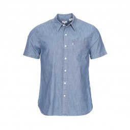 Chemise manches courtes droite Levi's Short Sleeve Sunset One Pocket Chambray Blue