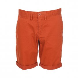 Short chino Teddy Smith Junior en coton stretch rouille