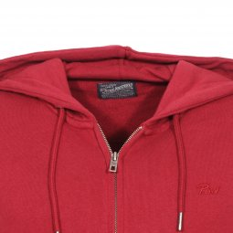 Sweat zippé à capuche Petrol Industries en coton mélangé rouge