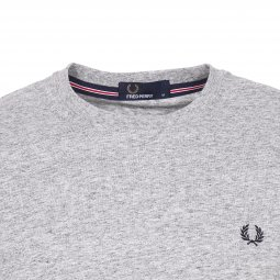 Tee-shirt col rond Fred Perry en coton gris chiné