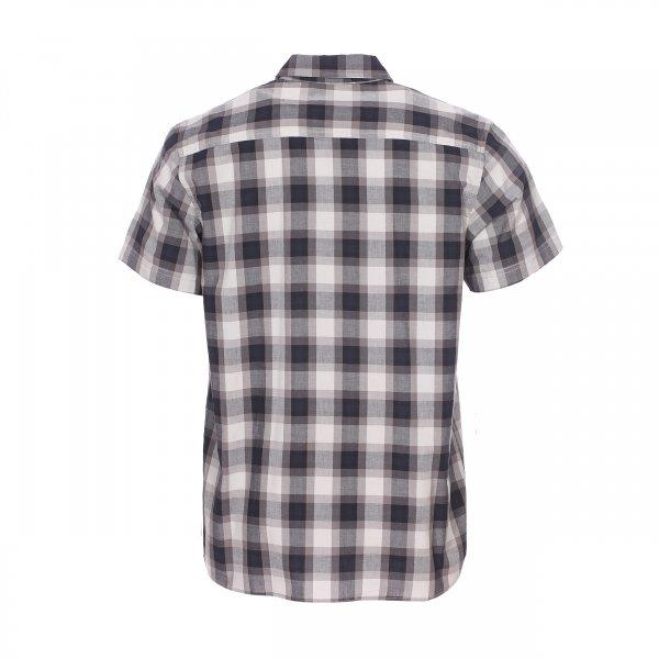 chemise manches courtes dickies bryson en coton carreaux gris et bleu marine rue des hommes. Black Bedroom Furniture Sets. Home Design Ideas
