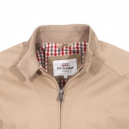 Blouson zippé Ben Sherman The Core Harrington beige