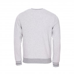 Sweat col rond Fred Perry en coton gris chiné