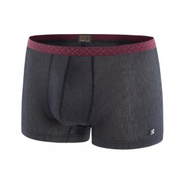 Boxer Hot en modal stretch gris anthracite à fines rayures grises