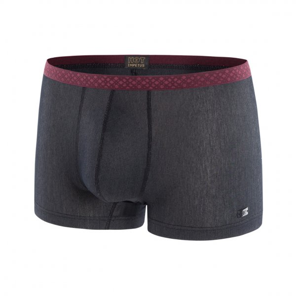 Boxer Impetus Hot en modal stretch anthracite à fines rayures grises