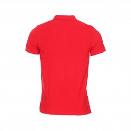 Polo Tommy Hilfiger Chest Stripe en maille piquée rouge