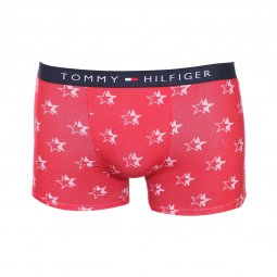 Lot de 2 boxers Tommy Hilfiger Junior en coton stretch bleu marine et rouge à étoiles blanches
