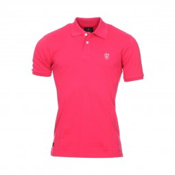 Polo Aristow Premium en coton stretch piqué rose fushia