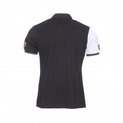 Polo Aristow Smash en piqué de coton stretch noir et gris