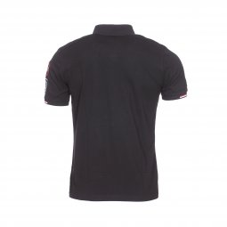 Polo Aristow French Driver en piqué de coton stretch noir