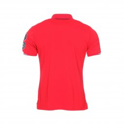 Polo Aristow French Driver en piqué de coton stretch rouge