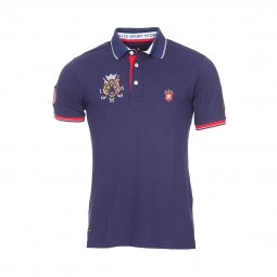 Polo Aristow Hole in One en piqué de coton stretch bleu marine