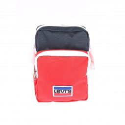 Sacoche Levi's L Series Small Cross Body Sportswear Colorblock en toile rouge et bleue