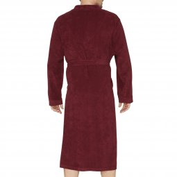 Peignoir Hajo en velours bordeaux