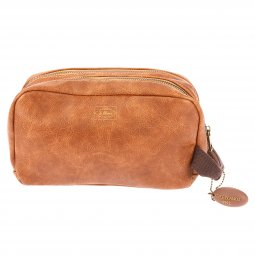 Trousse de toilette Serge Blanco 66 Road marron