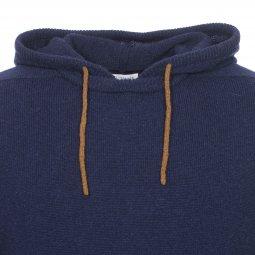 9d6c2d2361a5 ... Pull à capuche Harris Wilson Formica en laine d agneau bleu marine ...