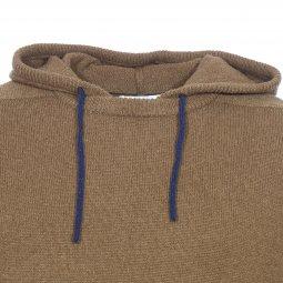 0b4635c5bea5 ... Pull à capuche Harris Wilson Formica en laine d agneau vert kaki ...