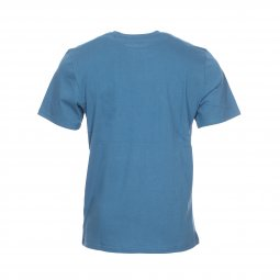 Tee-shirt col rond Element Layer en coton bleu canard floqué