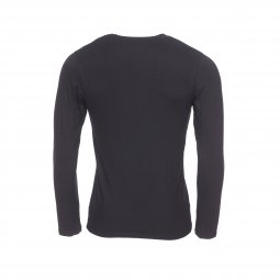 Tee-shirt col rond manches longues Impetus Innovation en coton stretch noir à technologie Outlast thermorégulatrice