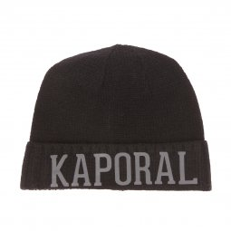 6a7a5f6ced0a ... Coffret cadeaux bonnet et écharpe Kaporal Back en mailles noires ...