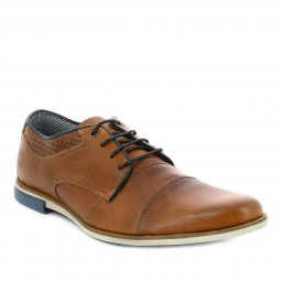 Derbies Bullboxer marron à empiècements