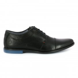 Derbies Bullboxer noires à empiècements