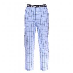 568af464156 Pantalon de pyjama Polo Ralph Lauren en popeline de coton bleu ciel à  carreaux bleu marine