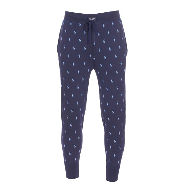 2a07c66f47f0 Pantalon de jogging léger Polo Ralph Lauren en coton bleu marine logotypé  en bleu ciel ...