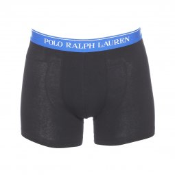 Lot de 3 boxers longs Polo Ralph Lauren en coton stretch noir