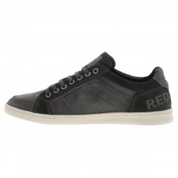 Baskets Redskins Orman en cuir véritable gris anthracite