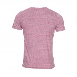 Tee-shirt col V Teddy Smith Tbill en coton rouge chiné