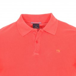 Polo Scotch & Soda Classic en coton piqué rouge