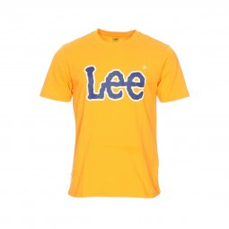 Tee-shirt Lee Logo en coton orange floqué bleu