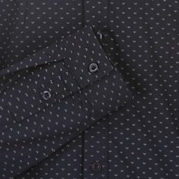 Chemise Teddy Smith Junior Clik en coton bleu marine à motifs blancs