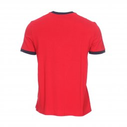 Tee-shirt col rond Guess Jeans Garth en coton rouge