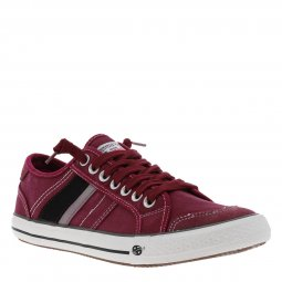 Baskets Dockers en toile bordeaux
