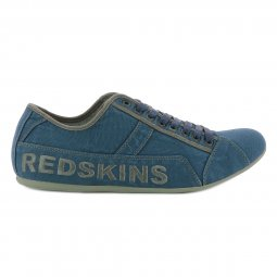 Baskets basses Redskins Tempo en toile bleu denim