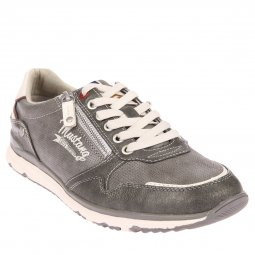 Baskets Mustang en cuir synthétique gris anthracite
